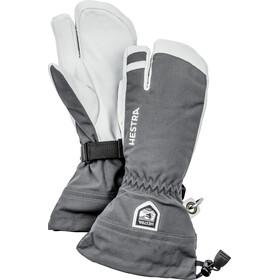 Hestra Army Leather Heli Ski 3 Finger Handschuhe grey